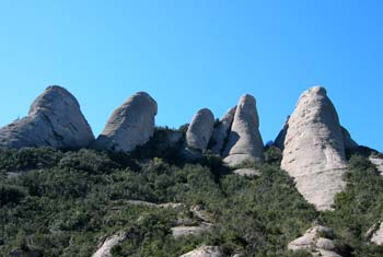 Felsen bei Montserrat