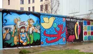 een restje Berlijnse Muur
