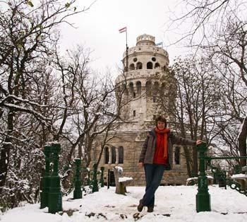Elizabeth Tower in the hills around Budapest
