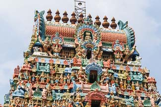hindoetempel Gopuram in Zuid-India