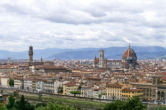 Uitzcht over Florence