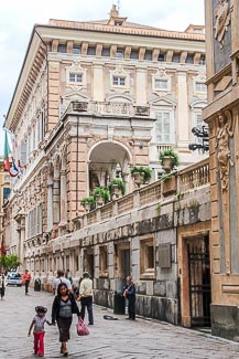 Via Garibaldi in Genua