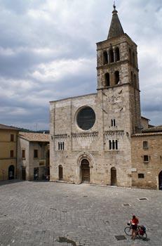 de kerk van Bevagna, Umbrië