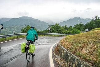 De grens tussen Emilia Romagna en Toscane