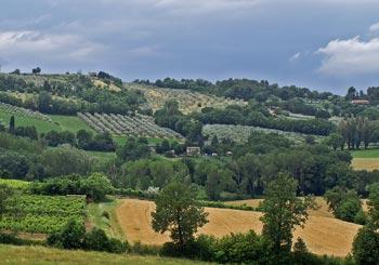 landschap in Umbrië