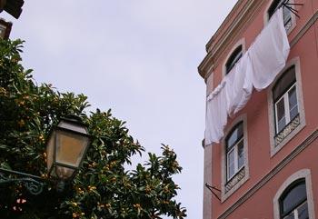 Haus in bairro alto, Lissabon
