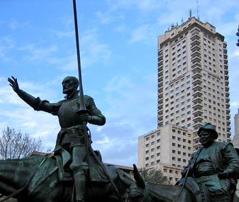 Don Quijote, Plaza de España, Madrid