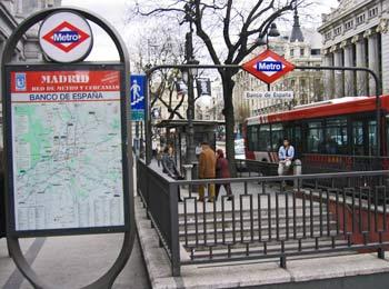 Underground entrance, Madrid