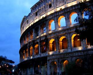The Colosseum, the Roman arena