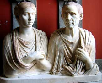 Römisches Ehepaar in den Vaticanischen Museen
