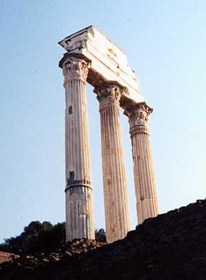columns on the Forum Romanum