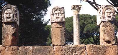 Skulpturen in Ostia Antica