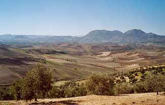 Landschaft bei El Saucejo