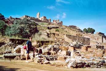 The ruins of the Roman Mulva