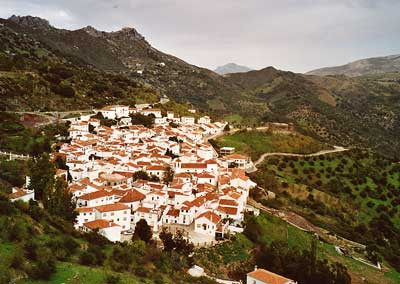 white village between Ronda and the coast