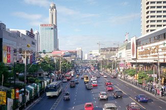 boulevard en shopping center in Bangkok