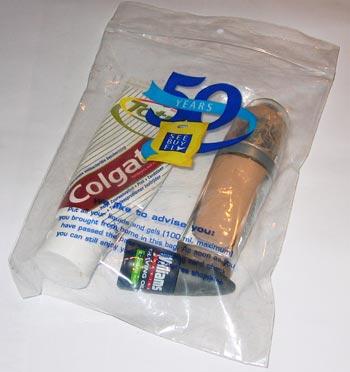 Plastic Zakje Vloeistof Handbagage