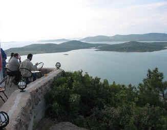 uitzicht over de baai van Ayvalik