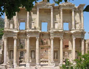 De ruïnes van Efese