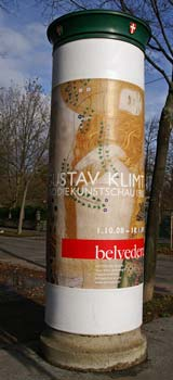 Advertisment for Gustav Klimt
