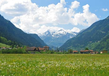 het Gotthardmassief vanuit Tessin